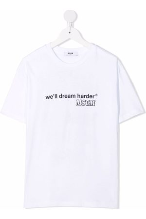 Msgm Boys Short Sleeve - Short sleeve slogan t-shirt
