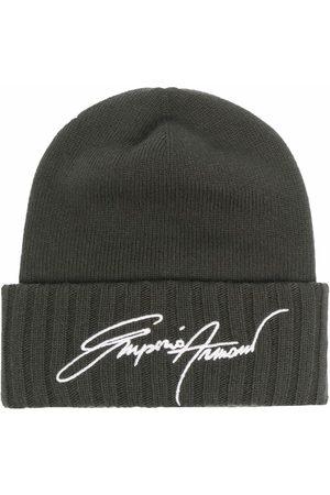 Emporio Armani Embroidered beanie hat