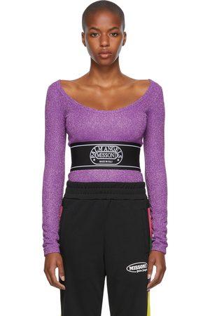 Palm Angels Women Bodies - Purple Missoni Edition Lurex Bodysuit
