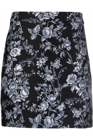 Moschino Fantasy-print jacquard skirt