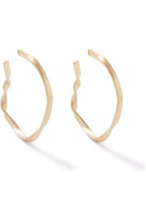 COMPLETEDWORKS Women Earrings - Twisted -plated Recycled-silver Hoop Earrings - Womens
