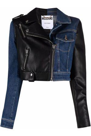 Moschino Mixed Garments cropped denim jacket