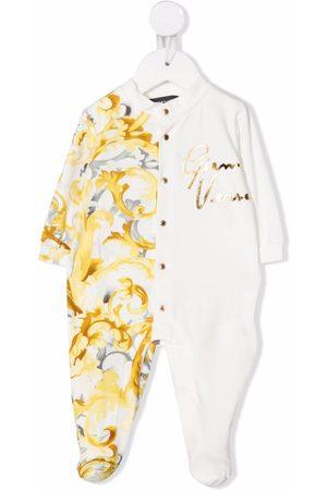 VERSACE Pajamas - Barocco-print panelled pajamas
