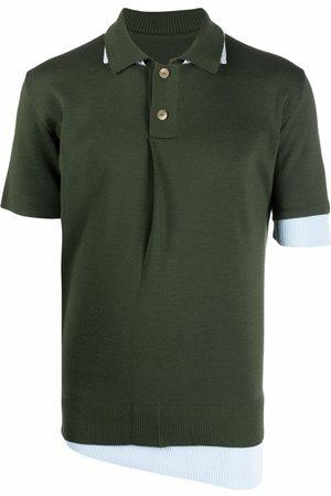 Jacquemus Men Polo Shirts - Layered fine-knit polo shirt