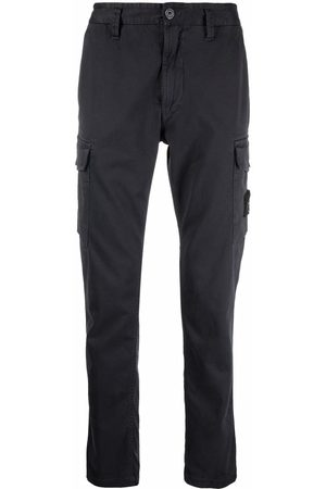 Stone Island Men Cargo Pants - Logo-patch cargo trousers - Grey