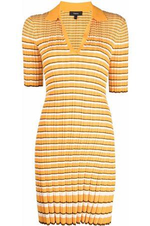 THEORY Women Casual Dresses - Stripe-print polo dress
