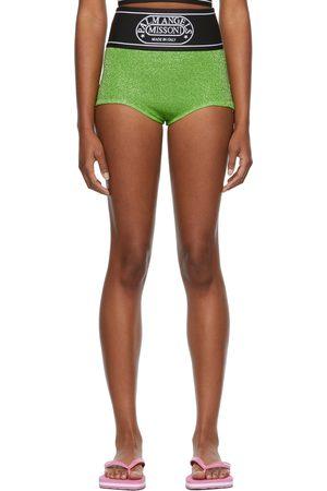 Palm Angels Green Missoni Edition Lurex Culotte Shorts