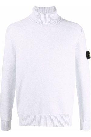 Stone Island Men Turtlenecks - Logo-patch roll-neck jumper - Grey