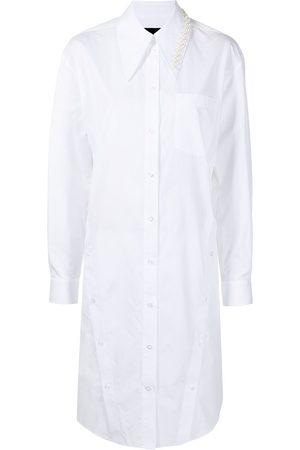 Simone Rocha Women Casual Dresses - Pearl-detail shirt dress