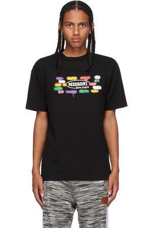 Palm Angels Men T-shirts - Black Missoni Edition Sport T-Shirt