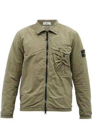 Stone Island Naslan Crinkled-pocket Nylon-shell Overshirt - Mens