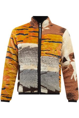 ARIES Men Fleece Jackets - Patchwork Reversible Fleece Jacket - Mens