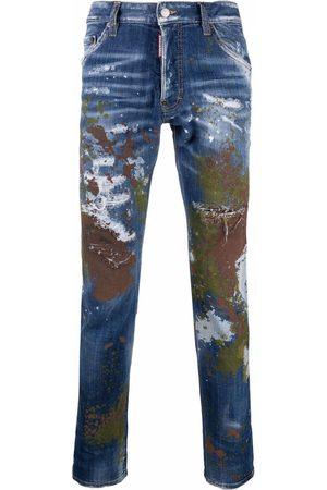 Dsquared2 Men Slim - Paint splatter-effect slim-fit jeans