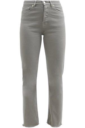 ALEXANDRE VAUTHIER Raw-hem High-waist Cropped Skinny Jeans - Womens - Grey