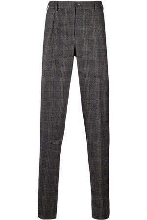 PT01 Men Formal Pants - Virgin wool check-pattern trousers - Grey