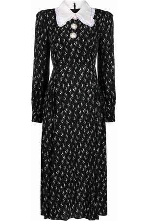 Alessandra Rich Women Printed Dresses - Floral-print maxi dress