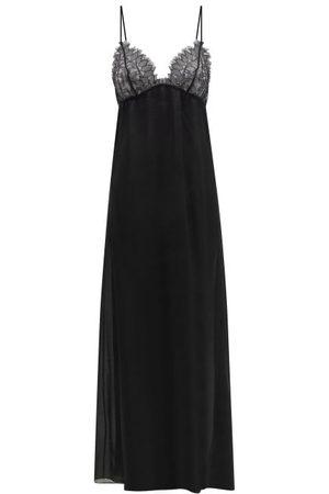 CARINE GILSON Leavers Lace And Silk-organza Nightdress - Womens