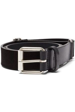 Anderson's Adjustable Leather And Suede Belt - Mens