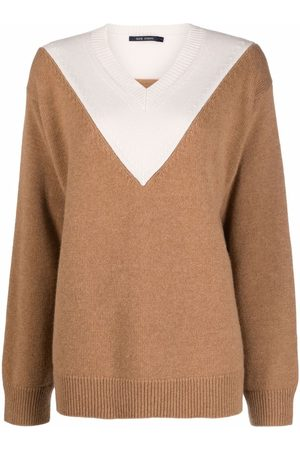 SOFIE D'HOORE Two-tone V-neck sweater - Neutrals
