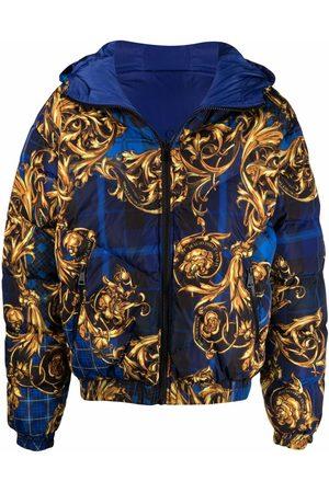 VERSACE Baroque-print hooded padded jacket