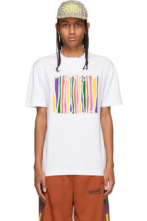 Palm Angels White Missoni Edition Melted Logo T-Shirt