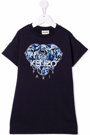 Kenzo Girls T-shirts - Elephant-embroidered T-shirt dress