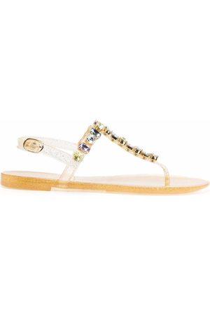 Stuart Weitzman Women Flat Shoes - Jaide gem jelly flat sandals