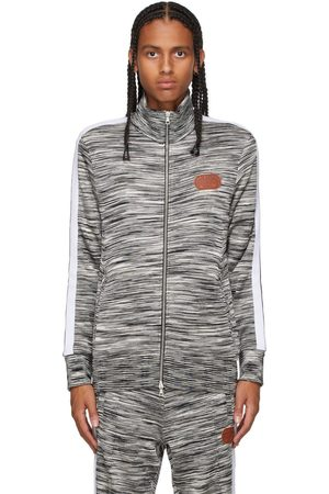 Palm Angels Men Jackets - Black & White Missoni Edition Knitted Track Jacket