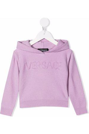 VERSACE Hoodies - Logo embroidered hoodie