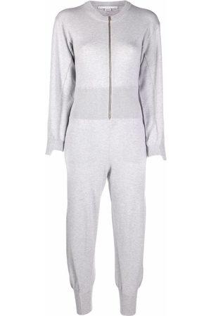 Stella McCartney Women Jumpsuits - Forever Stella knitted jumpsuit - Grey