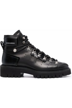 Dsquared2 Men Ankle Boots - Logo-print leather ankle boots