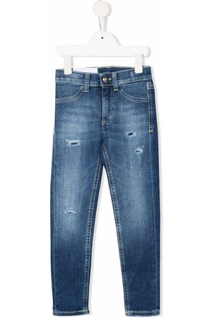 DONDUP KIDS Girls Skinny - Distressed skinny-cut jeans