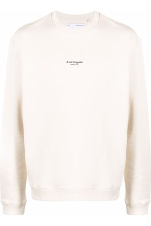 Axel Arigato Logo-print organic-cotton sweatshirt - Neutrals
