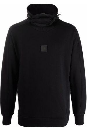 C.P. Company Men Hoodies - Logo-patch fleece hoodie