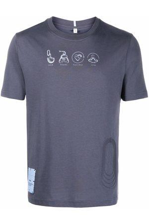 McQ Men Short Sleeve - Embossed short-sleeved T-shirt - Grey