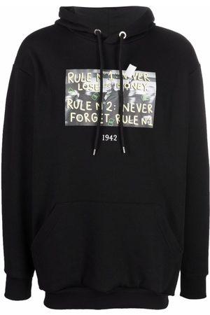 Throwback. Warren printed hoodie