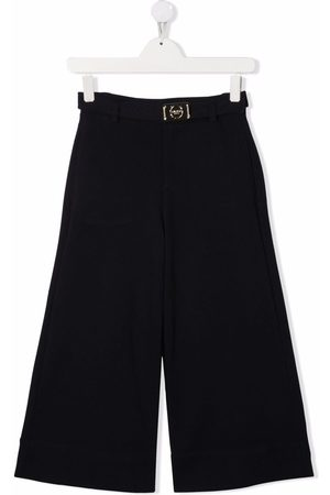 Lanvin Formal Pants - TEEN buckle-detail tailored trousers