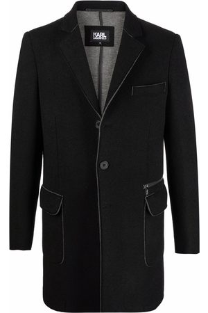 Karl Lagerfeld Notched-lapels flap-pockets single-breasted coat