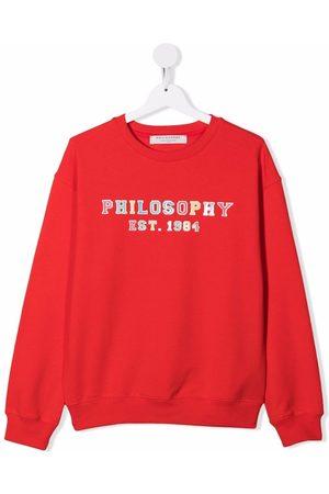 PHILOSOPHY DI LORENZO SERAFINI Sweatshirts - Logo-print sweatshirt