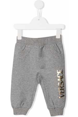 VERSACE Logo-print track pants - Grey