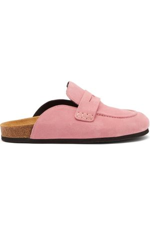 J.W.Anderson Women Loafers - Backless Suede Loafers - Womens