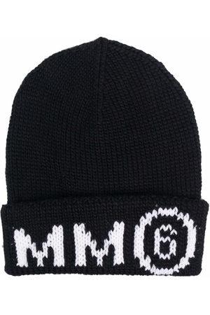 MM6 KIDS Logo beanie hat