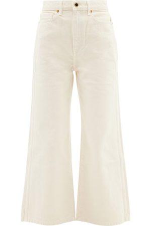Khaite Women High Waisted - Ella High-rise Wide-leg Cropped Jeans - Womens - Ivory