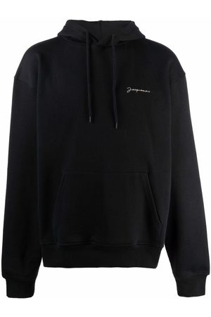 Jacquemus Logo-embroidered drawstring hoodie