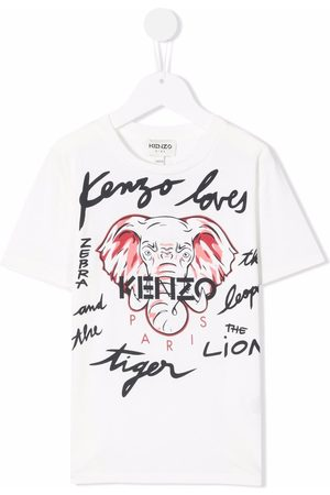 Kenzo Short Sleeve - Logo-print short-sleeved T-shirt - Neutrals