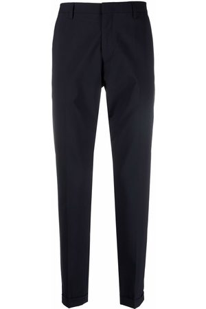 Paul Smith Men Formal Pants - Pressed-crease slim-fit tailored trousers