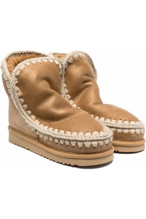 Mou Ankle Boots - TEEN leather whipstitched boots