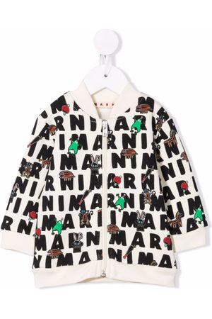 Marni Graphic-print cotton bomber jacket