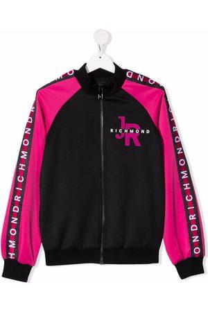 John Richmond Junior TEEN colour-block bomber jacket