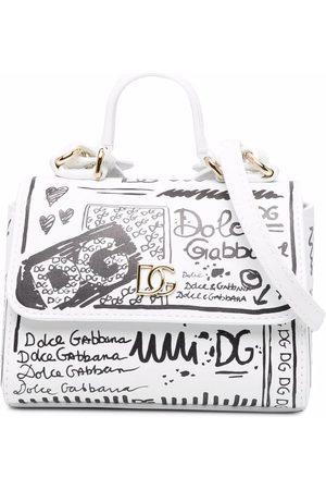 Dolce & Gabbana Girls Bags - Graffiti-print tote bag